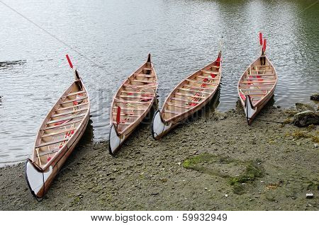 Four Rowboats In False Greek,vancouver , Canada