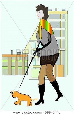 Lady With Doggie