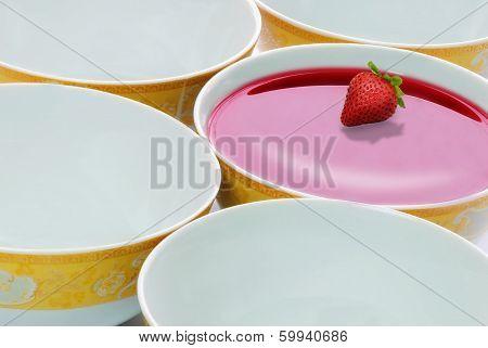 bowl of red liquid
