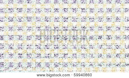Orange And Blue Tiled Pattern - Stock Image