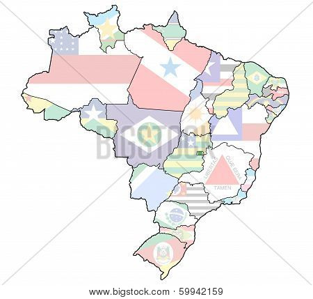 Distrito Federal State On Map Of Brazil