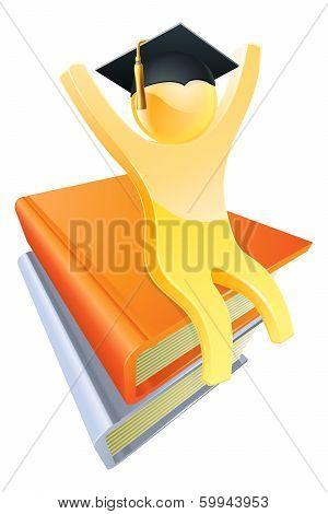 Graduate Books Gold Person