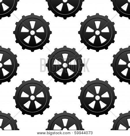 Gear and pinion seamless pattern