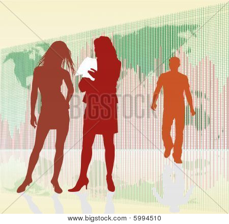 Businesswoman, Rising Global Profits