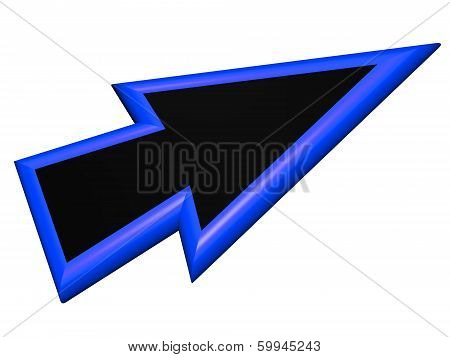 Blue And Black Arrowhead