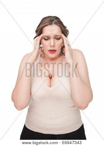 Plus Size Woman With Headache