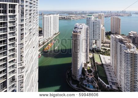 Stock aerial photo Brickell Miami