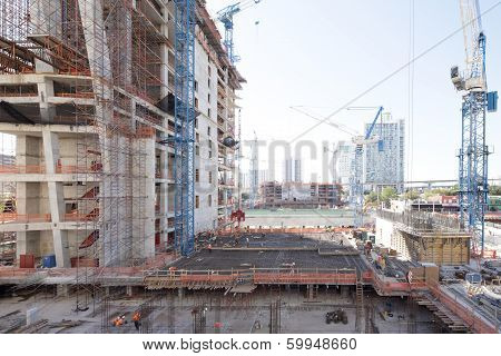 Stock image of a construction site