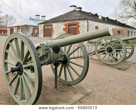 Old Historic Russian Cannon In 1800's