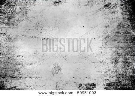Abstract Black Grunge Background Texture With Wood Pattern
