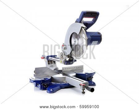 Sliding Compound Mitre Saw shot on white background