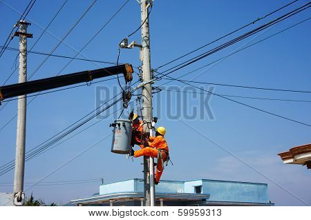 electrician repair system of electric wire