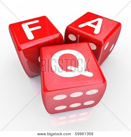 FAQ Frequently Asked Questions Letters 3 Red Dice