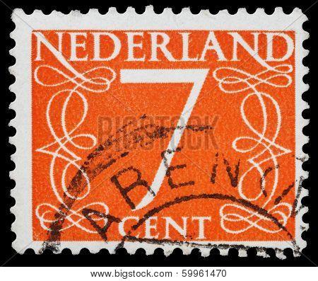 Post Stamp From Netherlandsb