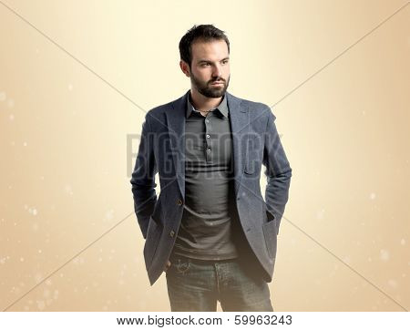 Young Handsome Man Over Isolated Yellow Background