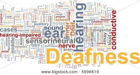 Deafness Word Cloud