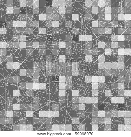 Geometric Pattern Of Gray Squares And Triangles