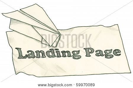 Landing Page With Clipping Path
