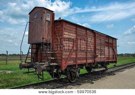 Transport vagon in Birkenau, State Museum
