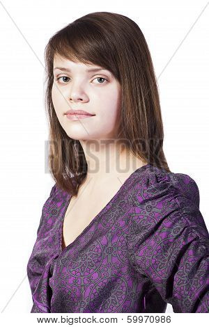 Positive Young Woman Isolated