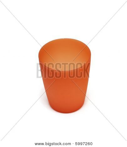 Red Plactic Camping Cup, Isolated