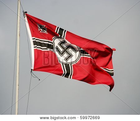 Odessa, Ukraine - May 6. German Nazi Flag. The