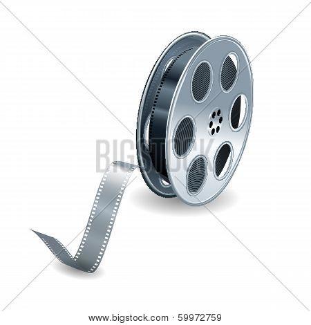 Vector film reel background