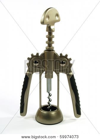 Graceful corkscrew with integrated bottle opener