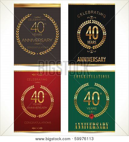 Anniversary Laurel Wreath Banner, Collection, 40 Years