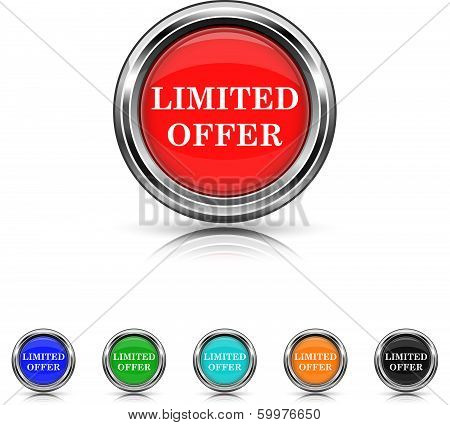 Limited Offer Icon - Six Colors Vector Set