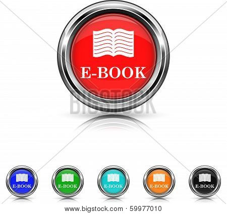 E-book Icon - Six Colors Vector Set