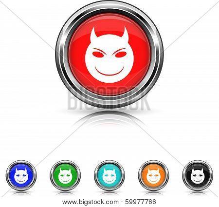 Evil Icon - Six Colors Vector Set