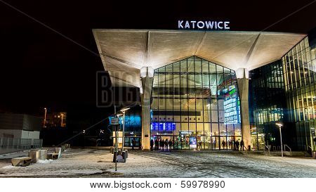 Night view of the new railway station