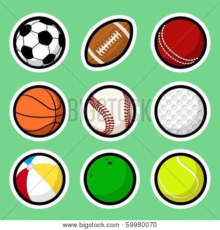 Ball stickers