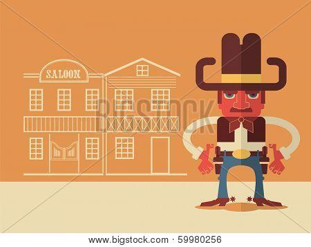 Cowboy With Guns
