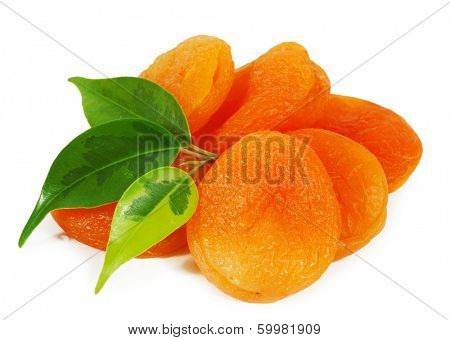 Dried apricots close-up