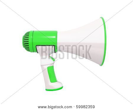 Megaphone Green Profile