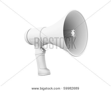 Megaphone In Grey Perspective