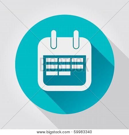 Calendar icon, flat design