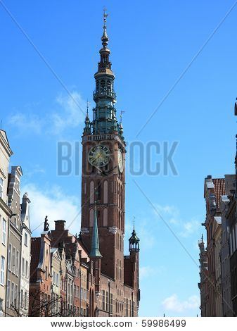 City Hall Of Old Town In Gdansk - Poland