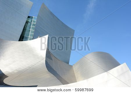 LOS ANGELES, CA - February 17, 2014: The Walt Disney Concert Hall in Downtown, Los Angeles, California,  designed by Frank Gehry, is the fourth hall of the Los Angeles Music Center. It opened in 2003.