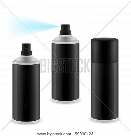 Black spray cans