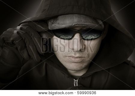 Bank Robber In Glasses