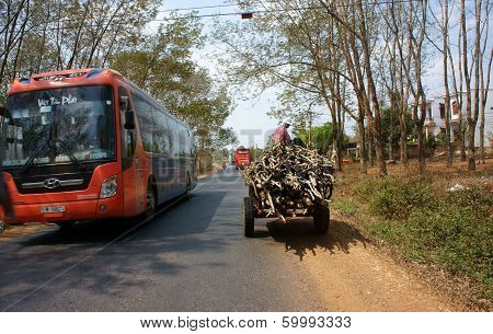 Traffic Of Transport Vehicle On Highway