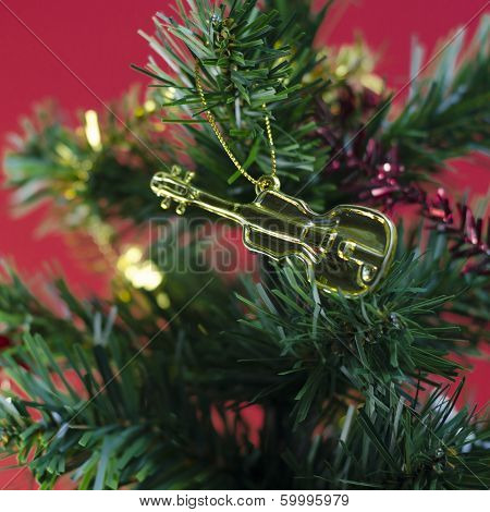 Violin On Christmas Tree