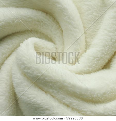 Plush White Blanket Swirl Square Background