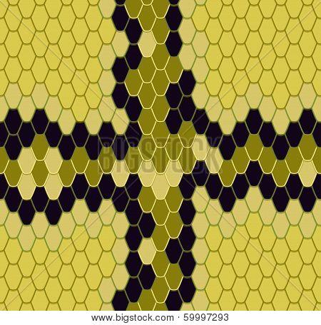 King Cobra, Seamless Pattern
