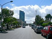 Addis Ababa, Ethiopia - November 25, 2008: Downtown. Urban Road Building.
