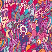 Gorgeous seamless pattern made of bright bursts and waves in vector. Seamless pattern can be used fo