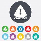 foto of hazard symbol  - Attention caution sign icon - JPG